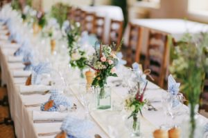 set wedding table.