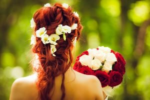 bride with red hair.